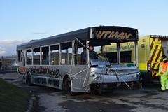V928 FMS (markkirk85) Tags: buxton raceway bus buses demolition derby dennis dart slf alexander alx300 ex viking new falkirk demonstrator 121999 v928 fms v928fms blue south lanc travel alx200