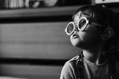 Doktor McStuffins (FranciscoEvangelista) Tags: doktor mcstuffins bw blackwhite blackandwhite glasses daughter child kids birthday 3years contrast classic monochrome moment cute portrait play fujifilm xpro2 xf56mmf12 acros people