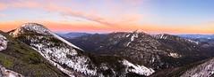 Adirondack Sunrise Panorama (ssgmacdawg12345) Tags: mountains sunrise nikon d7100 pano panorama night hike shane garlock pink purple beautiful amazing landscape winter adk adirondack adirondacks mt mount colden keene valley ny new york mountain snow