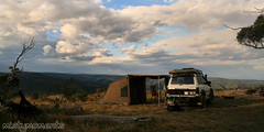 Our camp. (misty1925) Tags: camping highcountry dargohighplains victoria mountain landcruiser oztent alpinenationalpark nationalpark windy campsite campspot tent