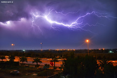 Back again to Flickr :) (Mustafa Ala'a) Tags: lightning storm weather sky angry night iraq baghdad