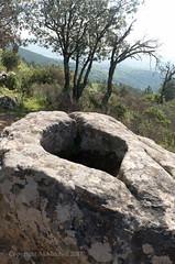 Basin cut into outcrop (AJ Mitchell) Tags: sandstone rigole basin rites pagan bélènos ritual monolith outcrop mineral vista lodévois