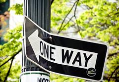 Bent One Way (Orbmiser) Tags: oneway 55200vr bent d90 nikon oregon portland sign spring