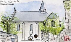 Le Tour de France virtuel - 49 - Maine-et-Loire (chando*) Tags: aquarelle watercolor croquis sketch france