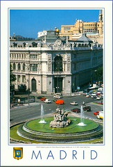 5784 R Madrid La plaza de Cibeles Banco de España Anđelki sent  12. X. 2005. Vesna Tonka Dora (Morton1905) Tags: 5784 r madrid la plaza de cibeles banco españa anđelki sent 12 x 2005 vesna tonka dora