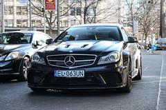 Poland (Lodz) - Mercedes-Benz C 63 AMG Black Series (PrincepsLS) Tags: poland polish license plate el lodz germany berlin spotting mercedesbenz c 63 amg black series