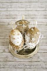 OvetteShabby_06w (Morgana209) Tags: ovetti uova decorazione shabby easter pasqua riciclo cartadapacco sacchettodelpane fiorellini perline fattoamano handmade diy creatività riciclocreativo recupero