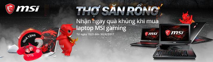 """Khuyến mãi laptop MSI - """" Thợ săn rồng """""""