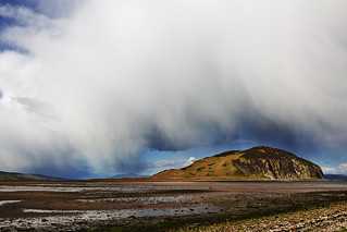 Rain storm at Davaar island