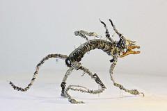 Sculpture from recycled metal Daemon 4 (Vortex67) Tags: art metal handmade wire sculpture recycled robot craft démon daemon monster montre