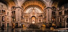 Panorama à la Gare d'Anvers (Lцdо\/іс) Tags: lцdоіс antwerpen anvers antwerp gare train station belgique belgium