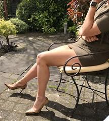 MyLeggyLady (MyLeggyLady) Tags: hotwife milf teasing secretary thighs sexy minidress cfm pumps stilettos legs heels