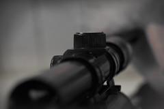 November 22, 1963 for Macro Mondays (Wim van Bezouw) Tags: macromondays crime gun riffle object bw dof selectiveconceptualdof kill jfk