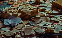 LOST PLACE (Gila98) Tags: lost lostplace verlassen alt papier papiere farbig verlassenerort urbex verfallen vergessen