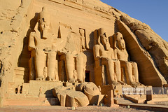 In front of Great Temple of Ramesses II at Abu Simbel, Upper Egypt. (Nick Brundle - Photography) Tags: abusimbel ancient archaeology architecture aswanegypt egypt greattempleoframesesii middleeast pharaoh ramesesii statue travel traveldestinations unesco unescoworldheritagesite upperegypt nikond750 nikkor2485mmf3545gedvr