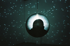 Partial Eclipse (DanRSmith) Tags: townergallery eastbourne mirrorball light olympusxa2 fujipress800