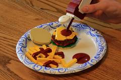 Anti-ABS Burger (jsnyder002) Tags: lego moc creation abs builder challenge innovalug food replica burger hamburger bun fries ketchup bottle model