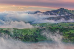 (Marc Crumpler (Ilikethenight)) Tags: landscape california bayarea eastbay contracostacounty losvaqueros marccrumpler sunrise clouds fog lake water hills hiking canon canon6d 6d 24105mmf4l