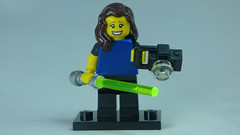Brick Yourself Bespoke Custom Lego Figure Happy photographer with Lightsaber