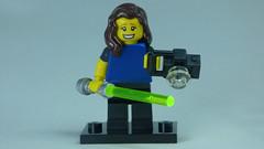 Brick Yourself Bespoke Custom Lego Figure Happy photographer with Lightsaber
