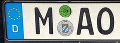 Autokennzeichen MAO (Zedong) oder Maó Hauptstadt von Menorka. (st.klaus612) Tags: autokennzeichen mao münchen hauptstadt bayern deutschland germany germania licenseplate samsungs7 munich bavaria