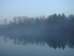 Three Creeks Metro Park (Dan Keck) Tags: columbus franklincounty pond turtlepond water fog reflection morning early