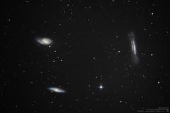 Tripletto del Leone - Leo Triplet (Michael Ronutti) Tags: skywatcher deepsky newton neq6pro astrophotography zwo asi120mc canon 50d m65 m66 ngc3628