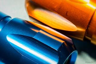 Orange and Blue.