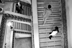 Upstairs downstairs... (modestino68) Tags: bn bw scale stairs coppia couple luci lights museo museum napoli naples danielpemberton