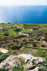 Acantilados junto al radar Dingli en Triq Panoramika (Malta)