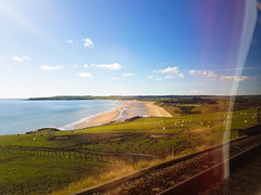 Lunan Bay from the Train (George McKnight) Tags: lunanbay montrose angus scotland surfspot beach windowview