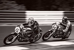 There's life in the old dog's yet (bainebiker) Tags: canonef100400mmf4556lis classicmotorcycle classicmotorcycleracing manxnorton motion nortonmotorcycle oldtimer panning racetrack vintage monochrome cadwellpark lincolnshire uk canonef100400mmf4556lisiiusm