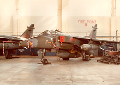 41 Squadron Jaguar GR1 'J' XZ365 (Kev Gregory (General)) Tags: a scan an old photo that stepfather took raf coltishall families day 1982 41 squadron jaguar gr1 j xz355 first royal air force station after passing out from halton junior technician propulsion apd56 posted mechanical components flight mcf working rolls royce turbomecca adour engine seconded 54 sqn just month nov 1981 1st line experience sepecat ground attack fighter tornado cold war nato xz365