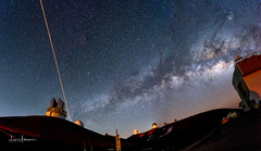 Milky Way & Laser On Top of Mauna Kea Summit 03 (JUNEAU BISCUITS) Tags: milkyway observatory laser astronomy astrophotography skyscape stars nightsky maunakeasummit maunakea hawaii bigisland nikond810 nikon