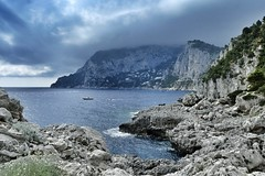 Capri ♡ (paola ambrosecchia) Tags: sea boat capri italy beach landscape beautiful amazing magical light clouds