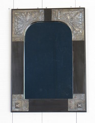 Mirror with bronze plaques (marlow_pete) Tags: woodwork