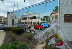 I left Natsume's Book of Friends near a local mural... (gorydetails) Tags: bookcrossing manga mural