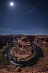 Moonlight Shadows at the Bend (Vaidas M) Tags: horseshoebend coloradoriver arizona usa unitedstates america navajonation page nightscapes nightphotography longexposure moonlight nikond800 nikkor1635mmf4afsvr