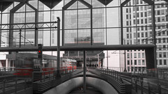 Gone (Simon Attila Miklós) Tags: modern railway metro city life bigcitylife thehauge hauge railwaystation backtothefuture future motionblur blur