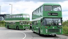 Another fine pair of Bristols... (Scatmancraig1974) Tags: pfe542v pfe 542v jvl619h jvl 619h bristol vr vrt ecw eastern coach works lincolnshire roadcar lincs road car lrcc 1958 1904 milton keynes borough council playbus vintage vehicle society lvvs teal park lincoln open day running preserved double deck buse buses craig schofield scatmancraig