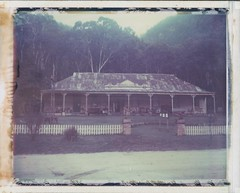 THE PUB WITH NO BEER (Eva Flaskas) Tags: roidweek2017 roidweek 2017 polaroid 669 expired color film abandoned hotel pub decay walgan valley instant instantfilm town rust historic newnes