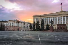 Lenin Square (Unicorn.mod) Tags: 2017 colors landsape cityscape square clouds twilight evening manual manuallens april canoneos6d samyang35mmf14asumc samyangmf35mmf14edasumcae