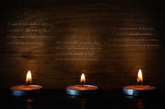 "16/52 ""Poetic"" (M.P. Melián) Tags: 52stilllifes dark lowkey candles velas clavebaja oscuro poetic poetico rubendario"