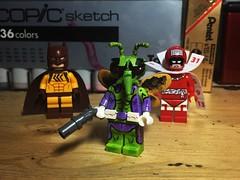 Drury Walker and Co. (LordAllo) Tags: lego dc batman tim sale art killer moth catman calendar man