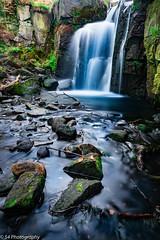 Blue Falls (Matthew Gavin) Tags: blue landscape cascade longexposure pool rocks sticks stones water waterfall