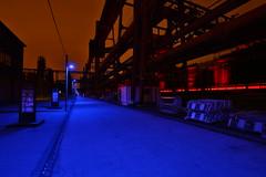 Blue (Mettwoosch) Tags: essen nrw germany deutschland night lights blue sky clouds nacht lichter blau himmel wolken zechezollverein kokerei industry industrie outdoor travel trip eos canon ef 5dm3 lens 5d3 architecture architektur longexposure langzeitbelichtung