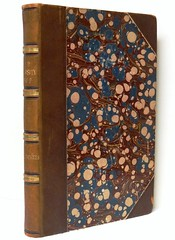 """The Old Curiosity Shop"" by Charles Dickens. London: Chapman and Hall, 1841. First Edition. Bound in brown half calf and marbled boards (lhboudreau) Tags: book books hardcover hardcovers hardcoverbook hardcoverbooks classicbook classicbooks classictale classicstory classicnovel novel story tale dickens charlesdickens 1841 firstedition chapmanhall chapmanandhall binding leatherbinding calfbindng halfcalfbinding marbledboards oldcuriosityshop theoldcuriosityshop curiosityshop nelltrent nelly nell littlenell littlenelly bookbinding bookbindingart antiquebook antiquarianbook"