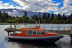 Water Taxis (T Ξ Ξ J Ξ) Tags: newzealand queenstown pier19 d750 nikkor teeje nikon2470mmf28 day taxis pier mountain clouds