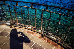 The only thing stopping me (Melissa Maples) Tags: alanya turkey türkiye asia 土耳其 apple iphone iphone6 cameraphone spring mediterranean sea water balcony fence me melissa maples selfportrait woman shadow photographer