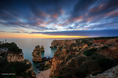 A última luz (gracampereira) Tags: praia marinha beach seascape ligth ultimaluz algarve sunset falesia rochas canon fotografo portugal ocean landscape atlantico mar longaexposicao